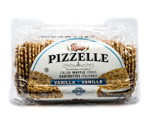 Reko Vanilla Pizzelle Waffle Cookie