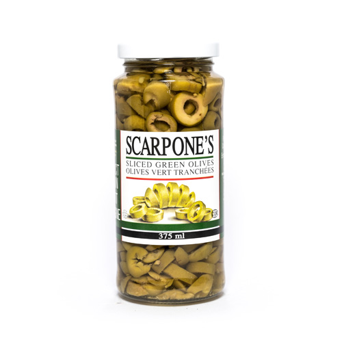 Scarpone's Sliced Green Olives