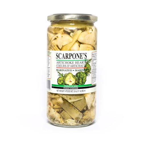 Scarpone's Marinated Quartered Artichoke Hearts