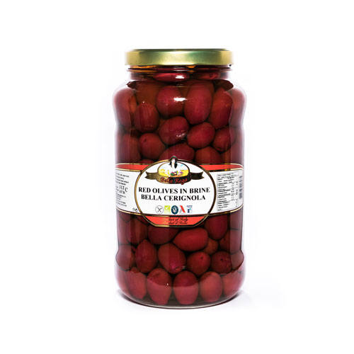 Bella Rega Cerignola Red Olives
