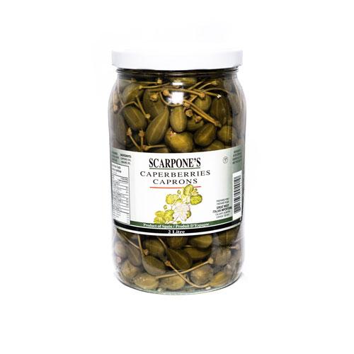 Scarpone's Caperberries with Stem