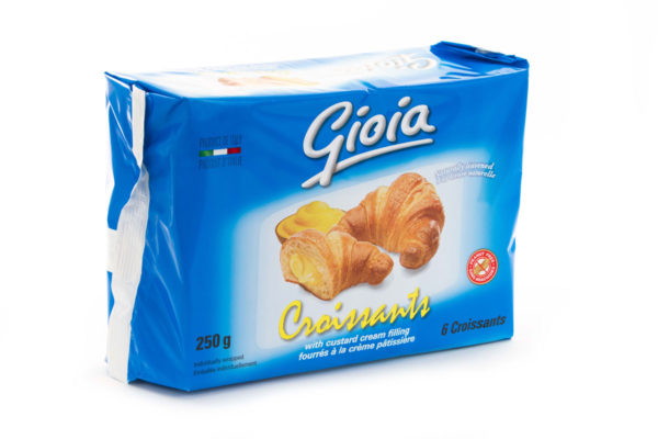 Gioia Croissants with Custard Cream Filling