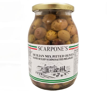 Scarpone's Sicilian Mix Pitted Olives