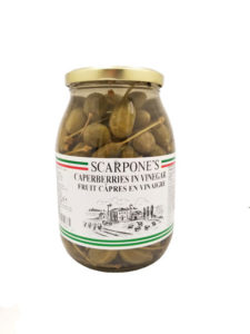 Scarpone's Caperberries in Vinegar