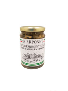 Scarpones Caperberries in Vinegar