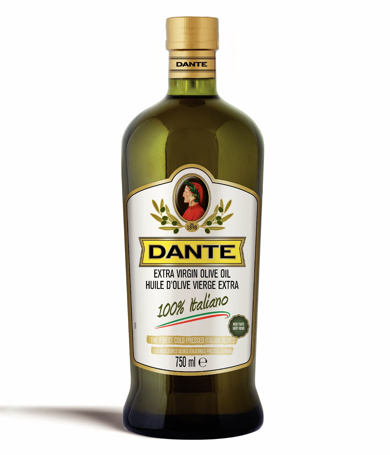 Dante Premium 100% Extra Virgin Olive Oil 750ml