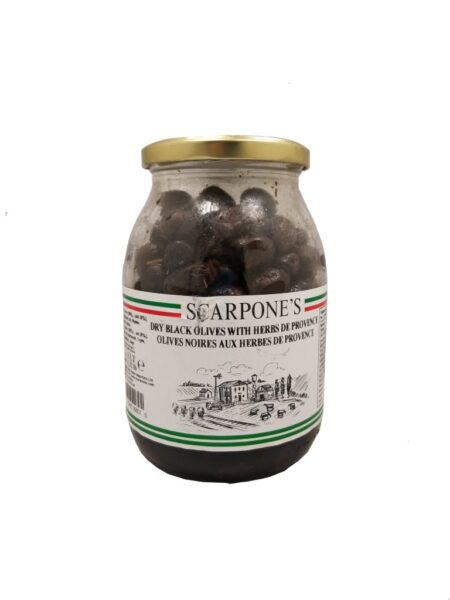 Scarpone's Dry Black Olives With Herbs De Provence