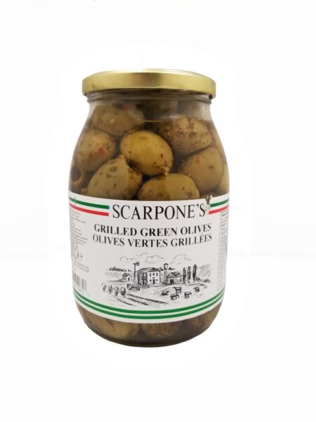 Scarpone's Grilled Green Olives
