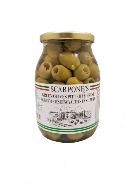 Scarpone's Green Olives Pitted In Brine