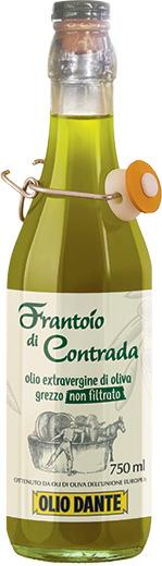 Dante Frantoio Di Contrada Extra Virgin Olive Oil Unfiltered Snap Top